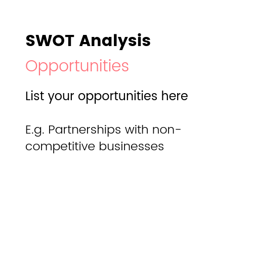 Small Business Marketing Ideas - SWOT Analysis Opportunities