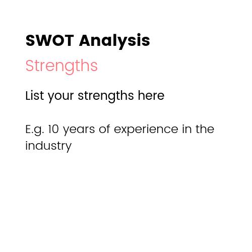 Small Business Marketing Ideas - SWOT Analysis Strengths