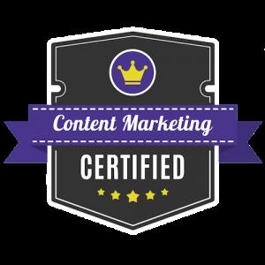 freelance writer saas certified content marketing badge