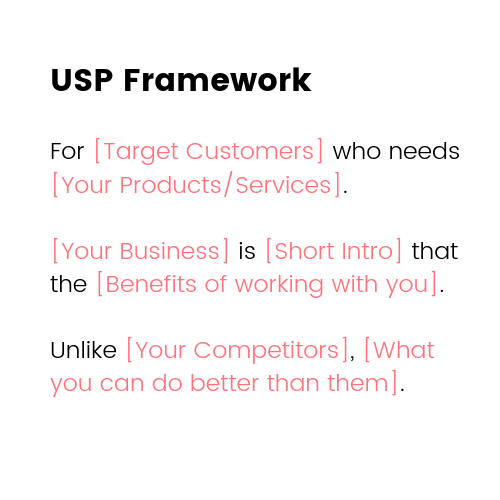 Small Business Marketing Ideas - USP Framework